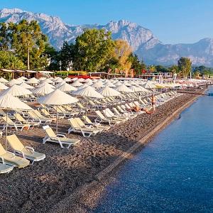 Галечные пляжи на отдыхе в Турции