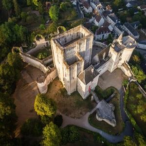 Замок Лош, древний замок Луары, Франция